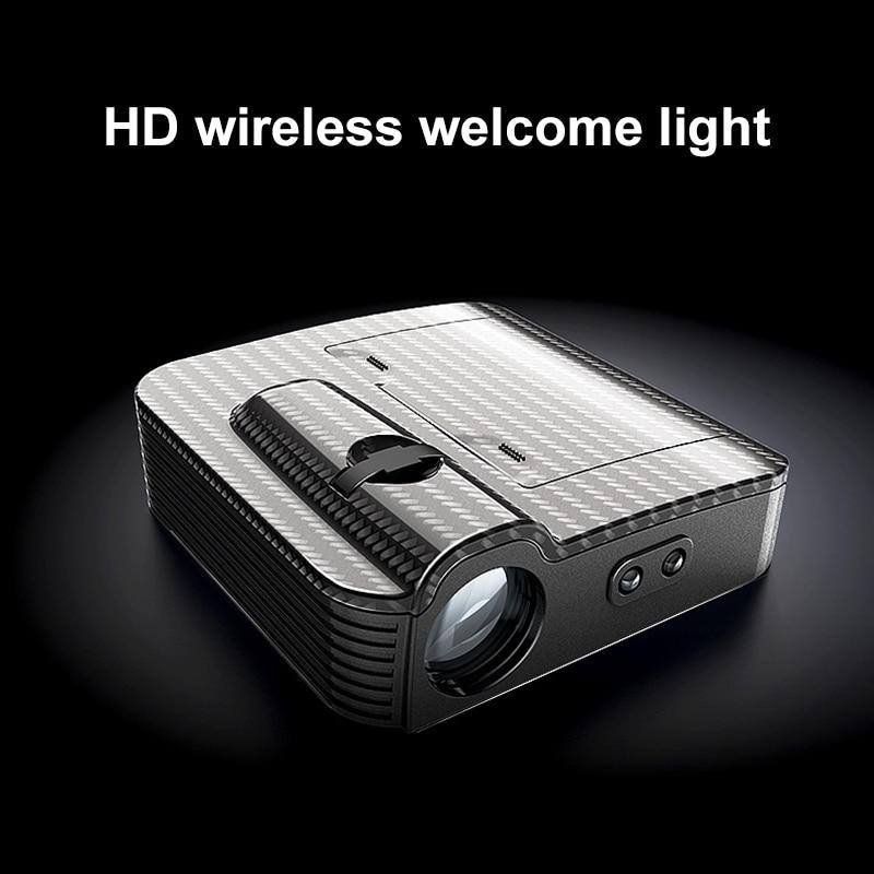 1pcs New car door wireless welcome lamp universal projection lamp wireless spotlight infrared sensor light for car All model (4)