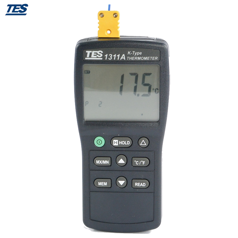 Dgital Thermometer K Type Thermocouple TES1311A tes1300 portable dgital k type thermocouple thermometer