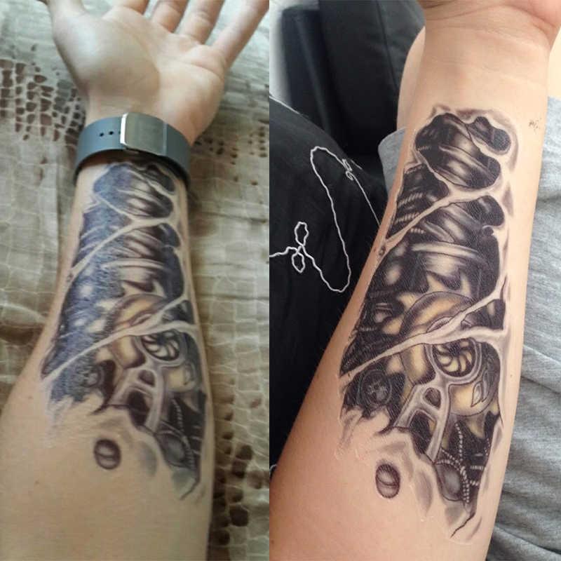 Nouveaux autocollants de tatouage temporaire imperméables de bras de Robot de tatouage de l'homme 3D de mode