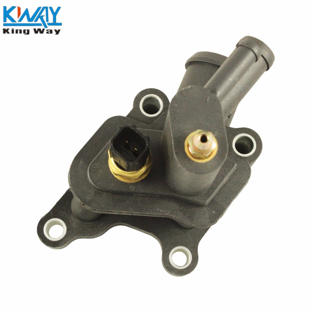 hight resolution of free shipping king way thermostat housing water outlet engine coolant air bleeder for chrysler dodge 4792630aa in thermostats parts from automobiles