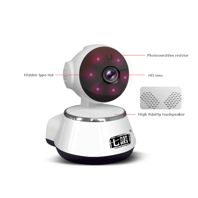 Seven promise Security Camera Wireless Wifi IP Camera 720P HD Surveillance Indoor Camera Onvif P2P IR-Cut P/T Night Vision CCTV hd 720p wireless ip camera wifi onvif 2 0 4 video surveillance security cctv network wi fi camera infrared ir and with ir cut