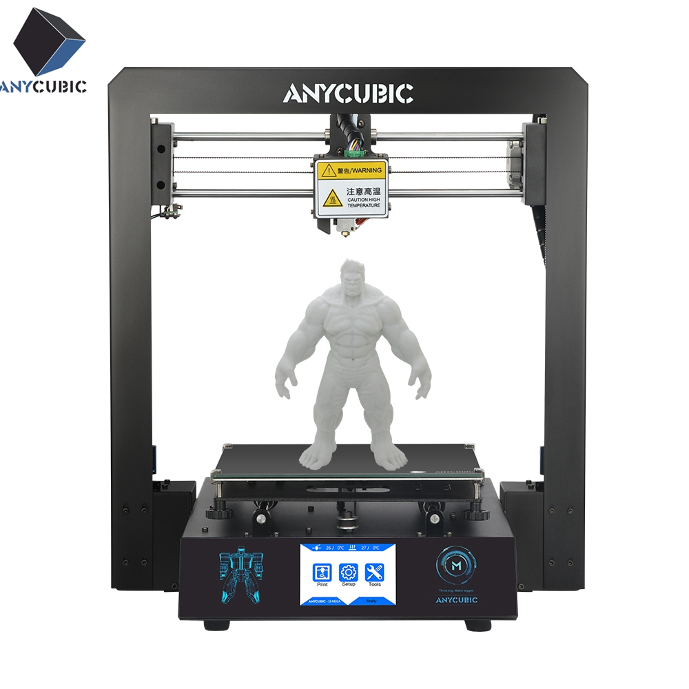 ANYCUBIC I3 Mega 3D Printer Full Metal Plus Size Desktop Frame 3 5 Inch TFT Screen