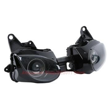 Clear Lens Motorcycle Plastic Front Light Lamp Case For Kawasaki Ninja ZX6R 2007 2008 Headlight Housing Set