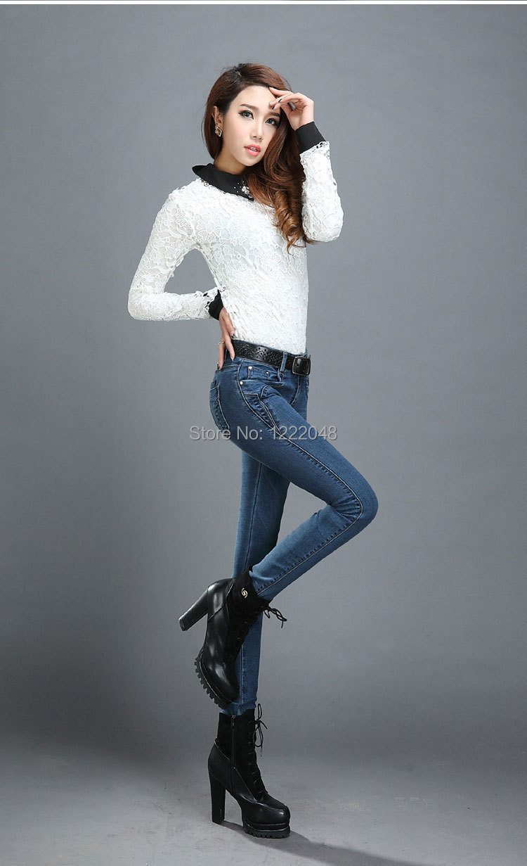 2014 the latest and most warm winter plus thick velvet Sexy Slim ...