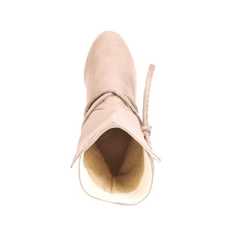 Fiesta on Terciopelo Mujeres Pantorrilla Mitad Mujer Zapatos 2018 Las Nieve a La A Slip De Botas Invierno Acuden qSqwXZ0t