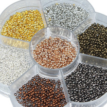 2800pcs/Box Mixed Colors Round Copper Beads Crimp Stopper For Bracelet Necklace DIY Jewelry Accessories