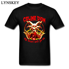 hot deal buy men's pop music tops t shirt metal band fashion autumn tops tees death skull hipster tshirts for men my heart will go on