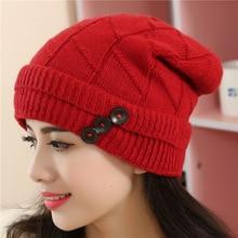 Wool knitting hat collapse cap autumn Winter warm thickening confined turtleneck cap Skullies Beanies Balaclava Gorro Bonnet