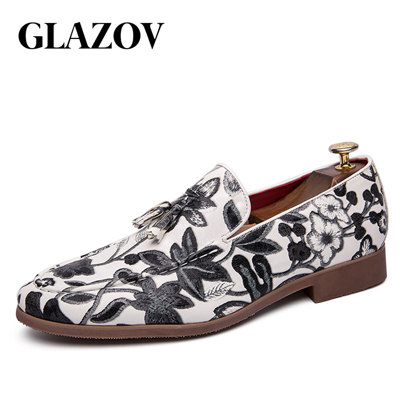 GLAZOV Classic Men Dress Shoes Cow   Suede   Formal Oxfords Fashion Casual Business Suit Office   Leather   Shoes White Wedding Shoes
