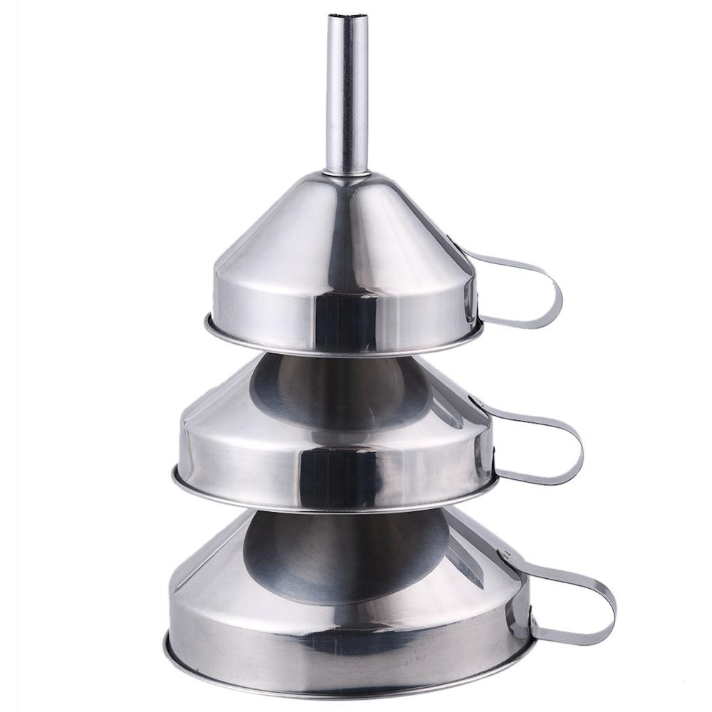 3Pcs/Set Kitchen Funnels Stainless Steel Kitchen Tools