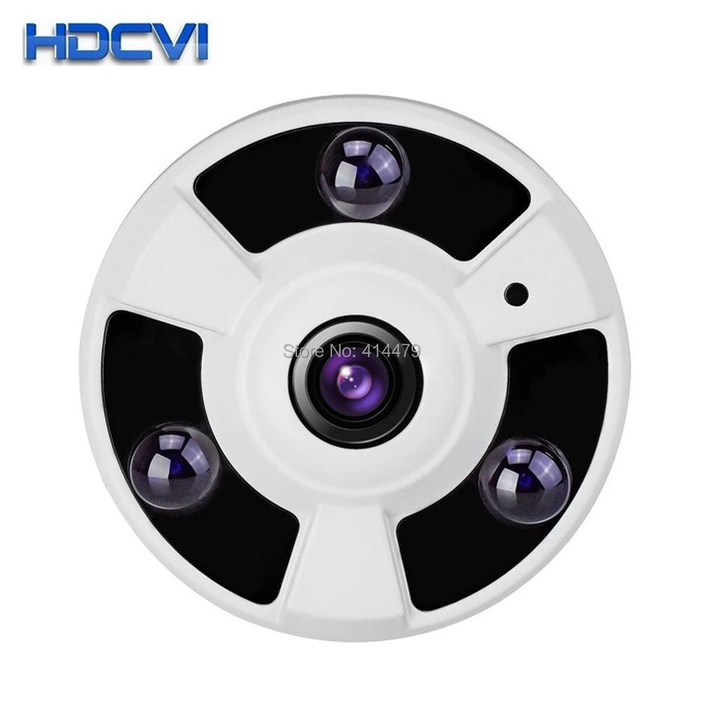 CCTV 2 0MP 1080P HDCVI 180 Degree Fisheye HD CVI Dome Security Camera IR Night Vision