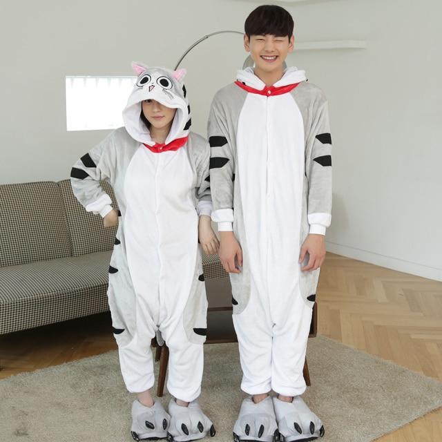 Anime Pijama Cartoon Unisex Adult Cheese Cat Pajamas Cosplay Costume