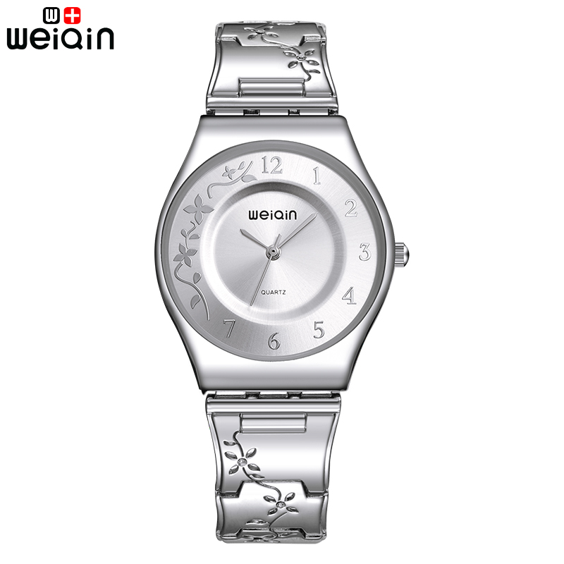WEIQIN Fashion Silver Women Watches 2017 High Quality Ultra thin Quartz Watch Woman Elegant Dress Ladies