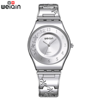 SINOBI Silver Women Watches Luxury High Quality Water Resistant Montre Femme Stainless Steel 2015 New With