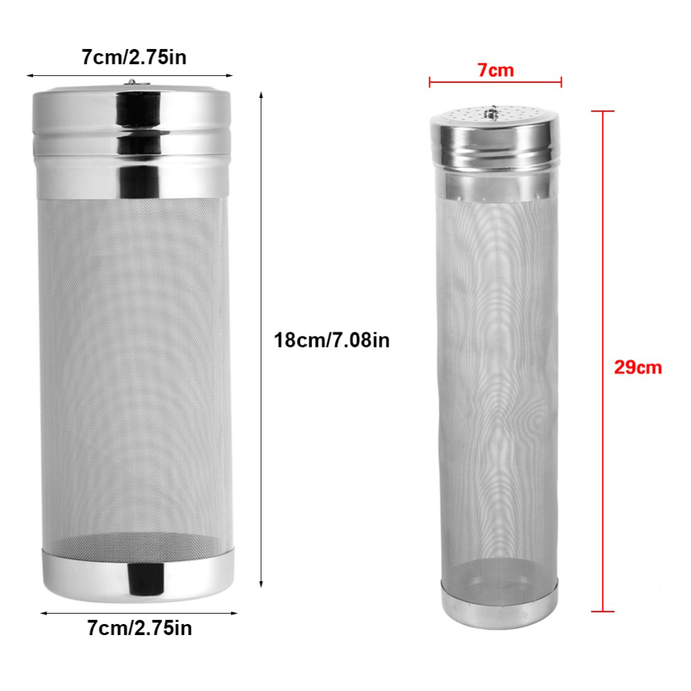 7x18/ 7x29cm 300 Micron Stainless Steel Hop Filter Homebrew Mesh Beer Filter Strainer Dry Hopper For Home Brew Spider Filter 3
