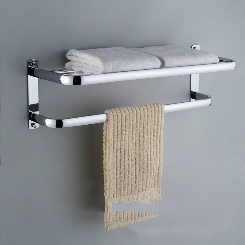 Здесь можно купить  NEW 304 stainless steel towel rack Double layer towel rack bathroom shelf hotel engineering bathroom accessories  Строительство и Недвижимость
