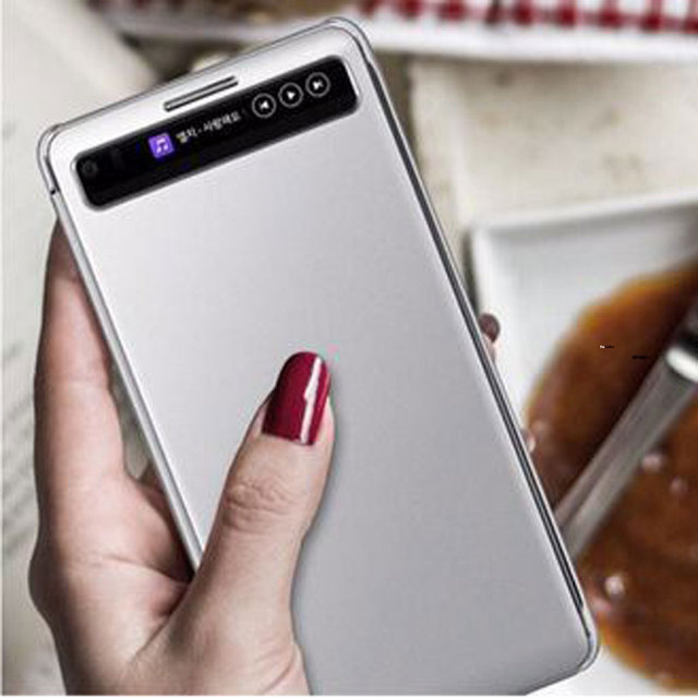 huge selection of b92d3 c7a28 US $6.29 30% OFF|Smart Quick Cover For LG V20 Case Sleep Function Cover For  LG V20 Fundas View Window Pu Leather Case For LG V20 Flip Cover-in Flip ...
