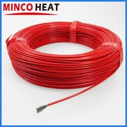 36K 48K calentador revestido de goma de silicona Cable de calefacción de fibra de carbono infrarrojo lejano