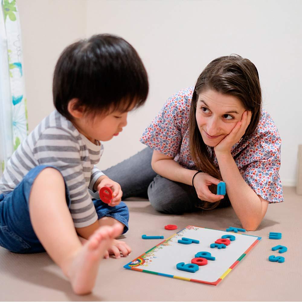 D-fantix lettres magnétiques 208 pièces majuscules minuscules mousse Alphabet ABC aimants pour réfrigérateur réfrigérateur jouets éducatifs ensemble - 6