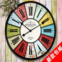 European Retro Creative Patterns Wrought Iron Wall Clock Bell Pointer Without Glass Exposed Clock 16027146536