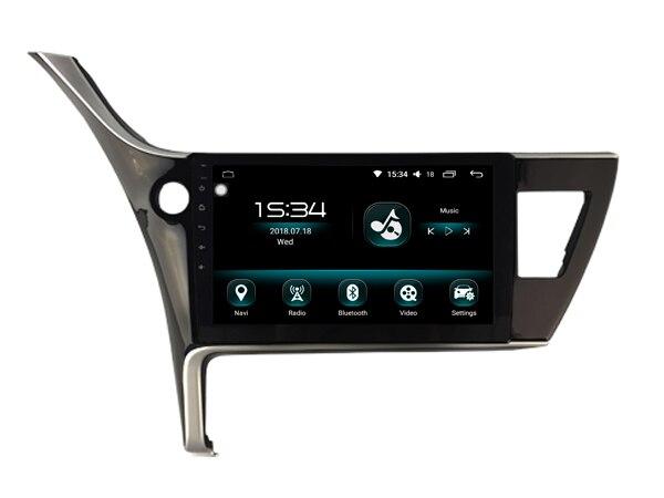 for Toyota Corolla 2017 Euro Android 8.0 car gps multimedia 64GB rom+IPS screen+CARPLAY+TDA7851 Amplifer+4 Car Launcher radio