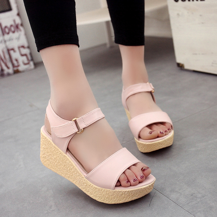 2017 Summer Shoes Woman Platform Sandals Women Slippers Leather Casual Open Toe Gladiator Wedges Women Shoes Zapatos Mujer lanshulan wedges gladiator sandals 2017 summer peep toe platform slippers casual glitters shoes woman slip on flats creepers