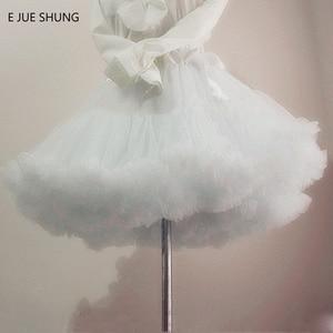 Image 1 - E JUE SHUNG Ball Gown Underskirt Swing Short Dress Petticoat Lolita Cosplay Petticoat Ballet Tutu Skirt Rockabilly Crinoline
