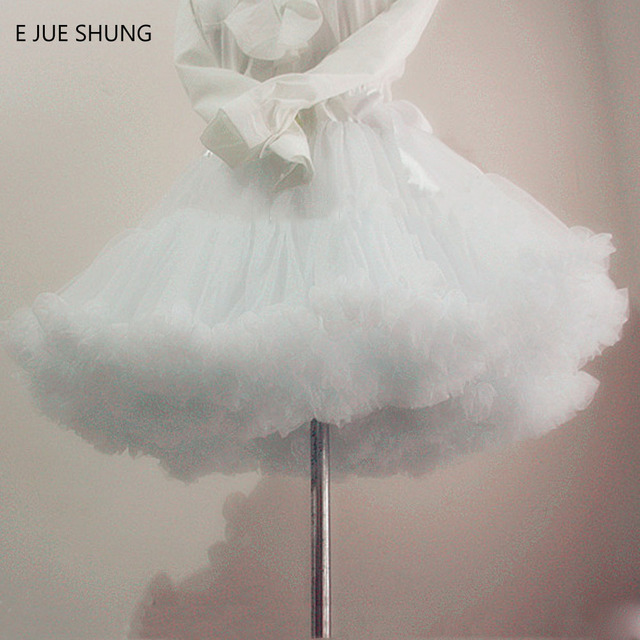 E JUE SHUNG Ball Gown Underskirt Swing Short Dress Petticoat Lolita Petticoat Ballet Tutu Skirt Rockabilly Crinoline