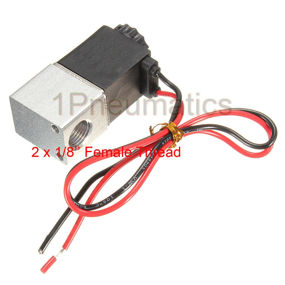 Free shipping Normally Closed Solenoid valve 2V025-06 12V DC 1/8 Wire High Qulity for Water Air Gas