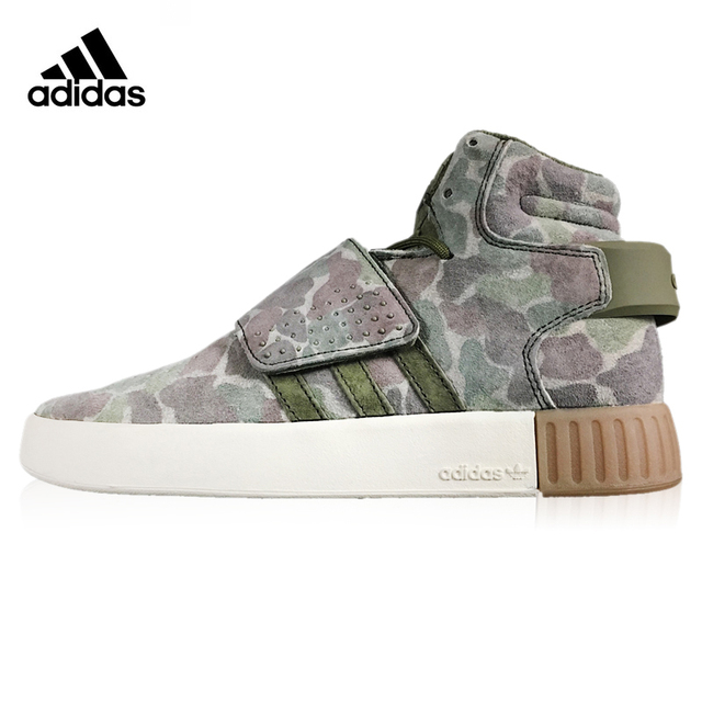 Mens Womens Sneakers Adidas Tubular Invader Strap 750 Boost Army green camouflage BB8393 bb8393