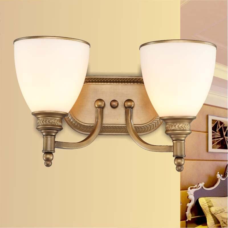Новинка 2016 освещения Простой гостиная спальня ночники бра Двухместный зеркало лампа FG600