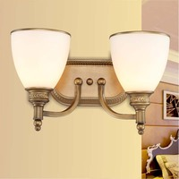 2016 new lighting simple living room bedroom bedside lamp wall lamp double double mirror lamp FG600