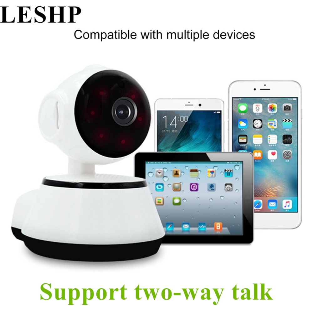LESHP Baby Monitor Mini IP Camera 720P HD 3.6mm Wireless Smart WiFi Camera WI-FI Audio Record Surveillance Home Security Camera
