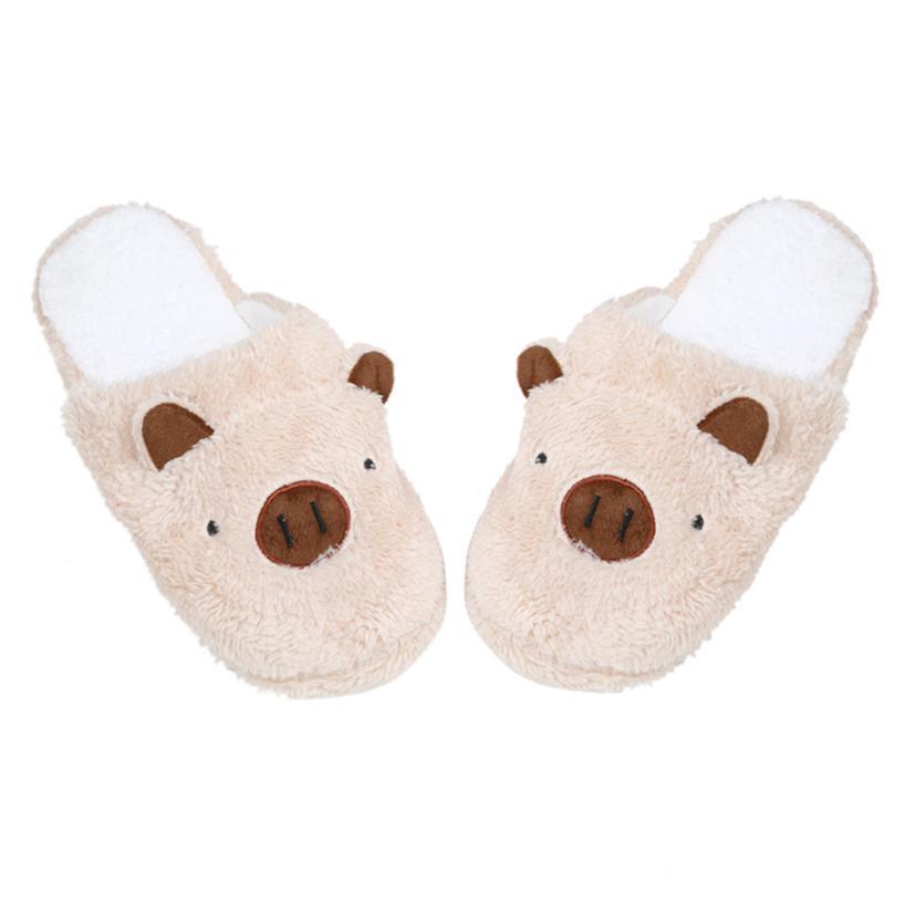 f6e6c38d Sleeper #4001 Lovely Pig Home Floor Soft Stripe Slippers Female Shoes  velvet slippers for women New | Babuee