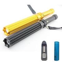 Q5 Flashlight Outdoor Emergency Tactical Self Defense Led Flashlight Defensive Lantern + 18650 Batteries + Charger