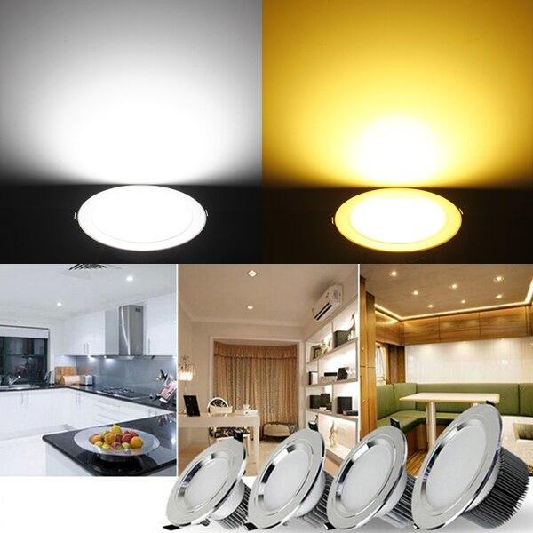 Jiguoor Ультра-яркий 12 Вт потолочные встраиваемые светодиодные светильники круглый/квадратный Панель свет 1150-1250lm LED Панель лампа свет