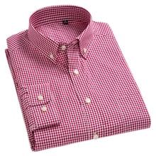 New Arrival Mens Oxford Wash and Wear Plaid Shirts 100% Cotton Casual Shirts High Quality Fashion Design Mens Dress Shirts