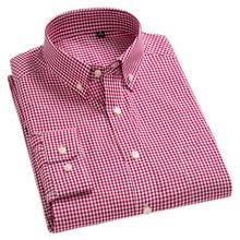 New Arrival męska Oxford umyć i nosić koszule w szkocką kratę 100 bawełniane koszule na co dzień wysokiej jakości projektowanie mody męskie ubranie koszule tanie tanio MACROSEA Pełna COTTON Plaid Pojedyncze piersi Skręcić w dół kołnierz Smart Casual REGULAR plaid shirt striped shirt