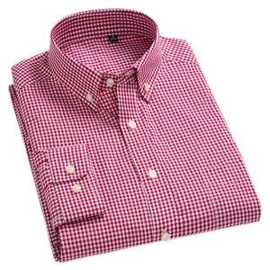 Image 1 - Nieuwe Aankomst mannen Oxford Wassen en Dragen Plaid Shirts 100% Katoen Casual Shirts Hoge Kwaliteit Fashion Design mannen jurk Shirts