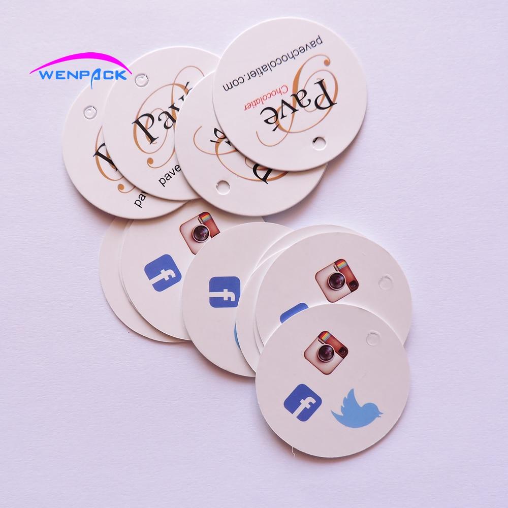 Custom gedrukt prijs papier gift hang tag/logo swing hang tag/papier label voor kledingstuk/gratis vergoeding ontwerp hangtag-in Kledinglabels van Huis & Tuin op  Groep 1