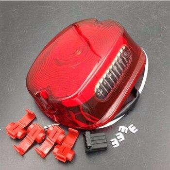 Motocykl czerwony hamulec Stop tylni sygnał światło do motocykla harley Sportster Road King Dyna Glide Electra Glide nocny pociąg fat boy,