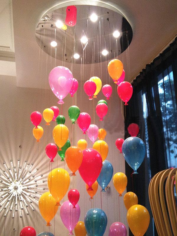 US $136.9 26% OFF Kinder Decke Lampe Ballon Led Luftballons Licht Ball Kind  Schlafzimmer Kronleuchter Bunte Lichter Glas Lampe Kinderzimmer Licht ...