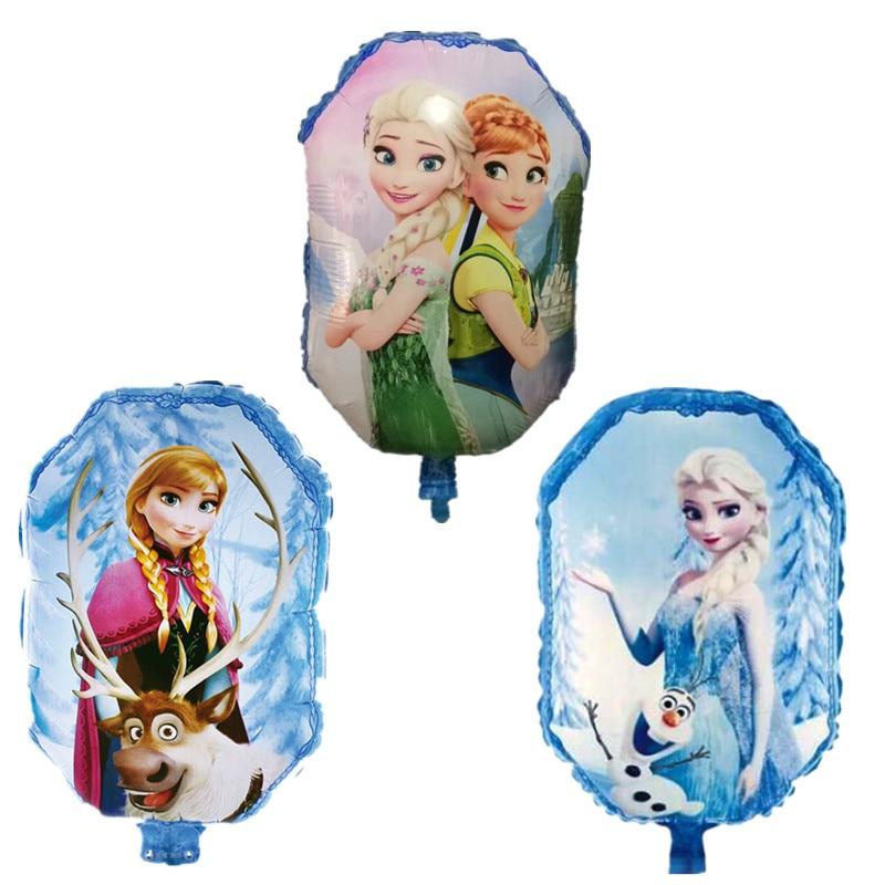 3pcs/lot Princess anna foil balloons Birthday balloons inflatable toys air ballo