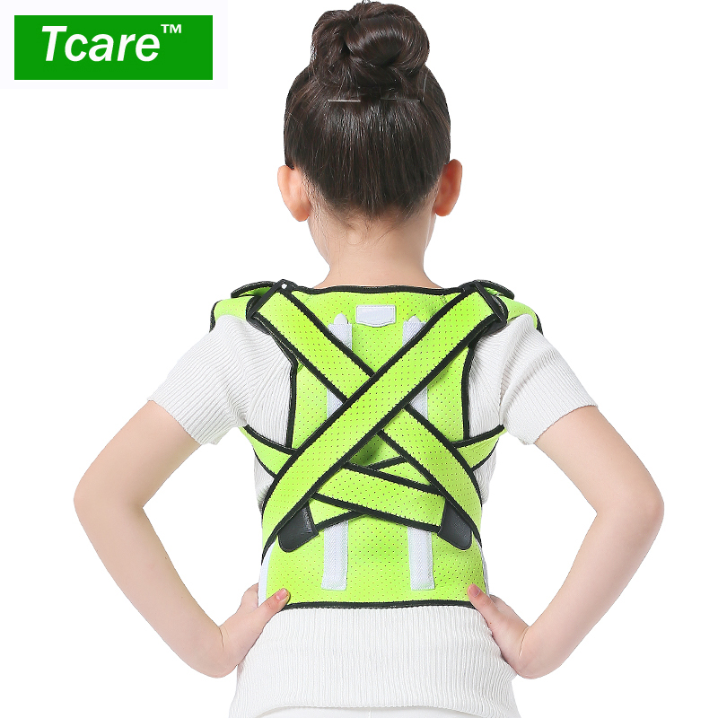 Tcare Posture Correction Waist Shoulder Chest Back Support Brace Corrector Belt for Child and Teenager Size XS/S/M Health Care