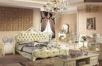 Vert couleur nouveau design chêne en bois massif Mobilier De Chambre fixe fait en chine avec table et chaise de loisirs