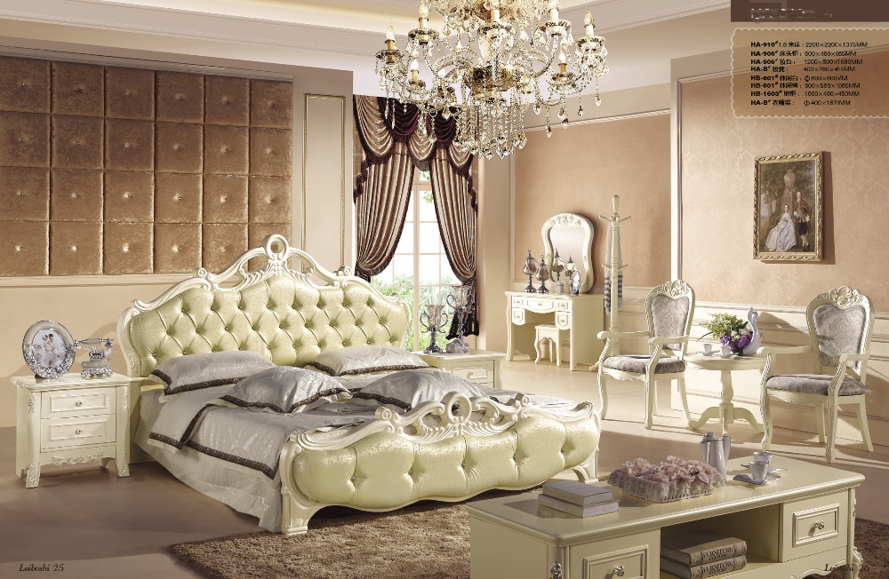 Green Color New Design Oak Solid Wood Bedroom Furniture Sets Made In China  With Leisure Table And Chair