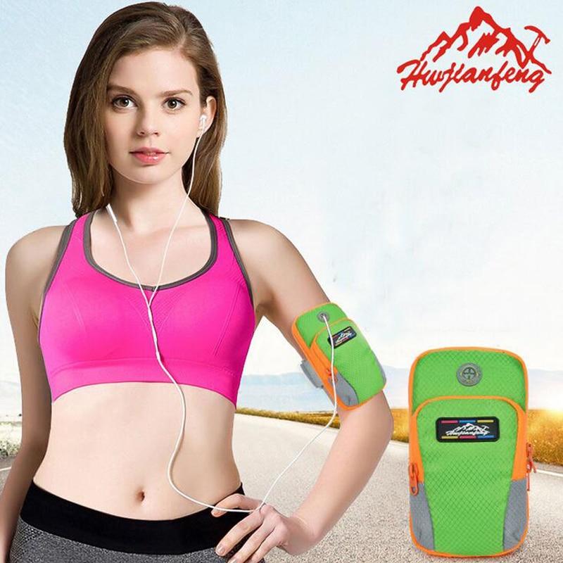5pcs/lot Sports Jogging Gym Armband Running Bag Arm Wrist Band Hand Mobile Phone Case Holder Bag Outdoor Waterproof Hand Bag