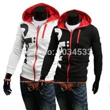 NEW Fashion Men Hooded Sweatshirt Hoodies Slim Fit Zip Jacket Sportswear Men's Casual Long sleeve Outwear Tops Plus Size 4XL