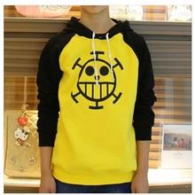 Hot sale Anime One Piece Trafalgar Law Sweatshirt Death Surgeon Hoodie Jacket coat Cosplay Costumes