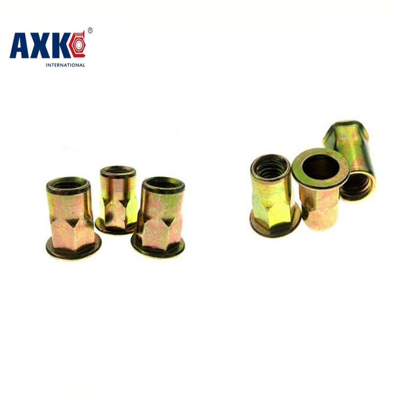 2018 Sale Decor Wood Furniture Axk 20pcs Half Hex Rivet M4 M5 M6 M8 M10 M12 Metric Thread Steel With Zinc Nut Rivnut Inserts